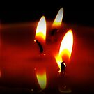 Candy Corn Flames by Lisa Taylor