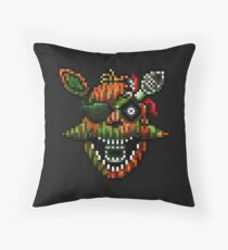 Five Nights at Freddy's 3 - Pixel art - Phantom Foxy Throw Pillow