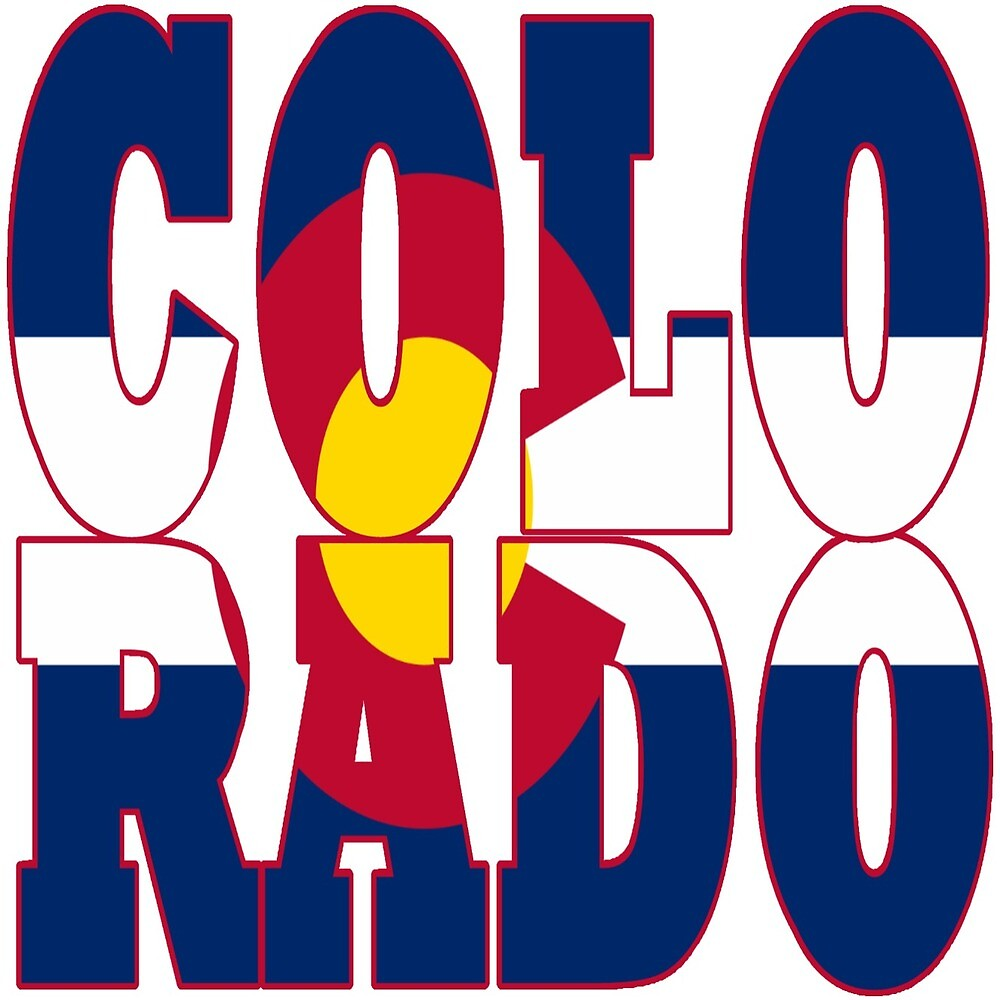 Colorado State flag typography by oconnart