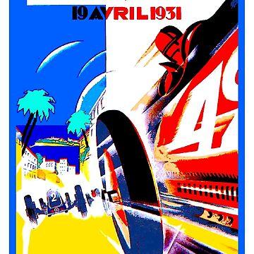 """MONACO"" Grand Prix Auto Racing Print by posterbobs"