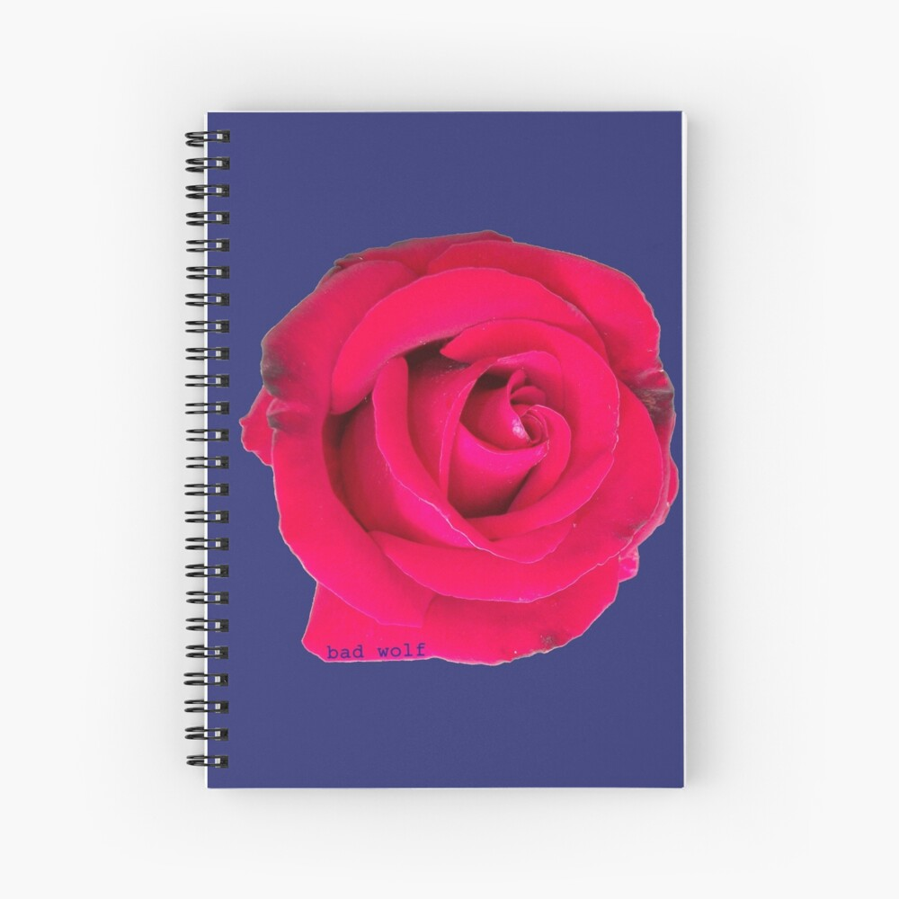 Rose, the Bad Wolf Spiral Notebook