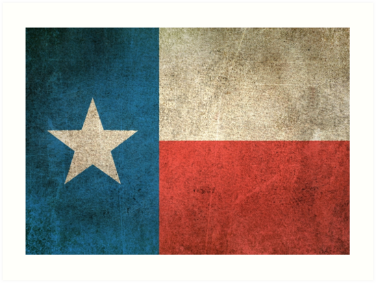Old and Worn Distressed Vintage Flag of Texas by jeff bartels