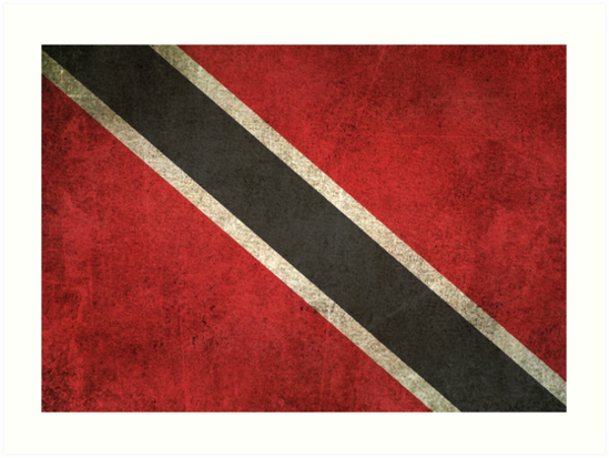 Old and Worn Distressed Vintage Flag of Trinidad and Tobago by jeff bartels
