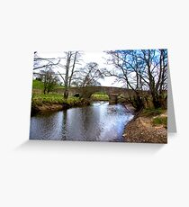 The Bridge at Semer Water - Yorks Dales. Greeting Card