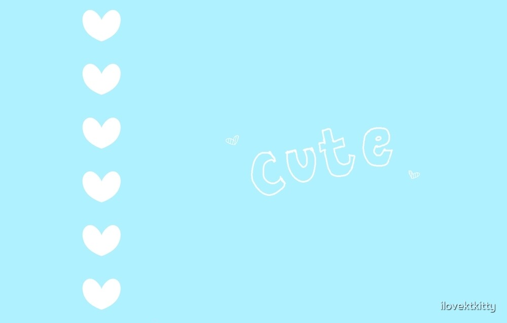 Cute hearts - blue by hug-the-kitkat