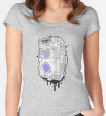 YASHICA Mat Format Women's Fitted Scoop T-Shirt