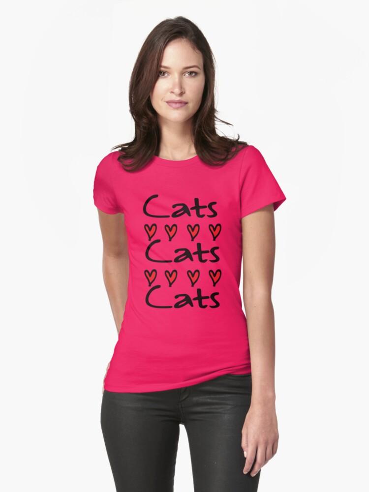 cats cats Womens T-Shirt Front