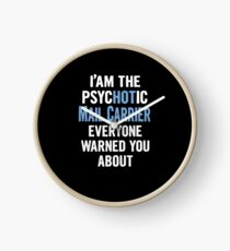 Tshirt Gift For Mail Carriers - Psychotic Clock