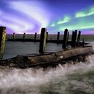 Northern lights above Flaauwers Harbor..... by Adri  Padmos