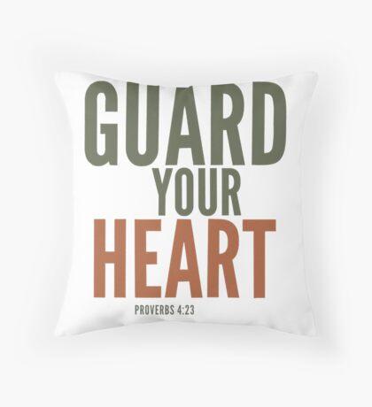 Guard your heart - Proverbs 4:23 Floor Pillow