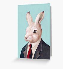 weißer Hase Grußkarte