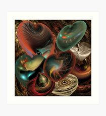Collecting hearts Art Print