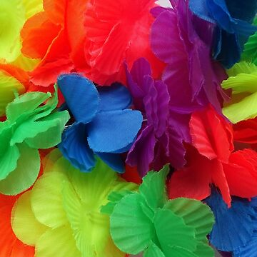 Luau Party Bolourful Hawaiian Lei Flowers by HotHibiscus