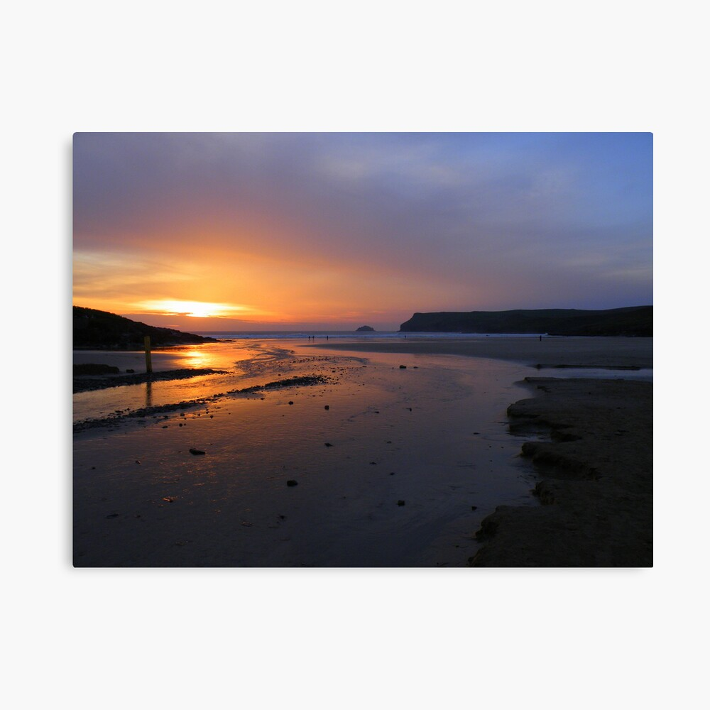 Cornwall: Last Light at Polzeath Canvas Print