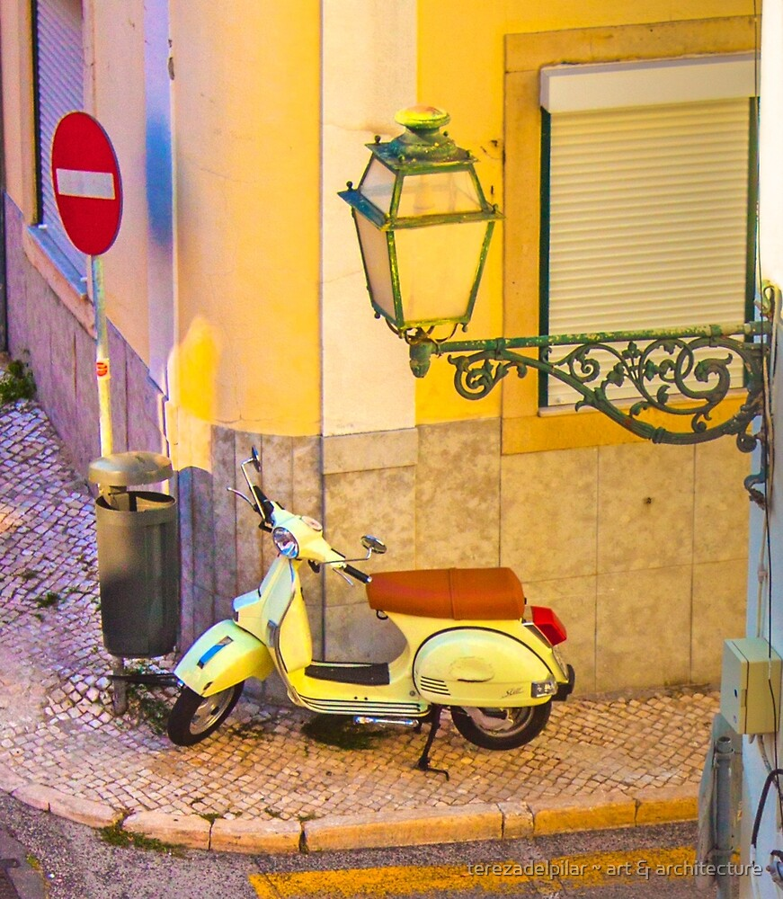 the scooter and the lamp by terezadelpilar ~ art & architecture