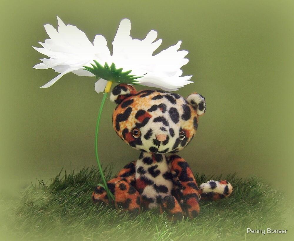 Lester Leopard - Handmade bears from Teddy Bear Orphans by Penny Bonser