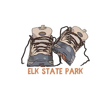 Elk State Park Hiking Boots by awkwarddesignco