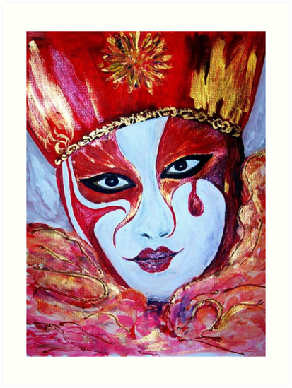 The Crying  Mask  by Mary Sedici