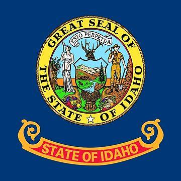 Flag of Idaho, blue background by Alma-Studio