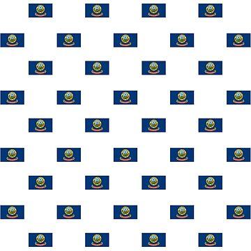 Flag of Idaho, pattern by Alma-Studio