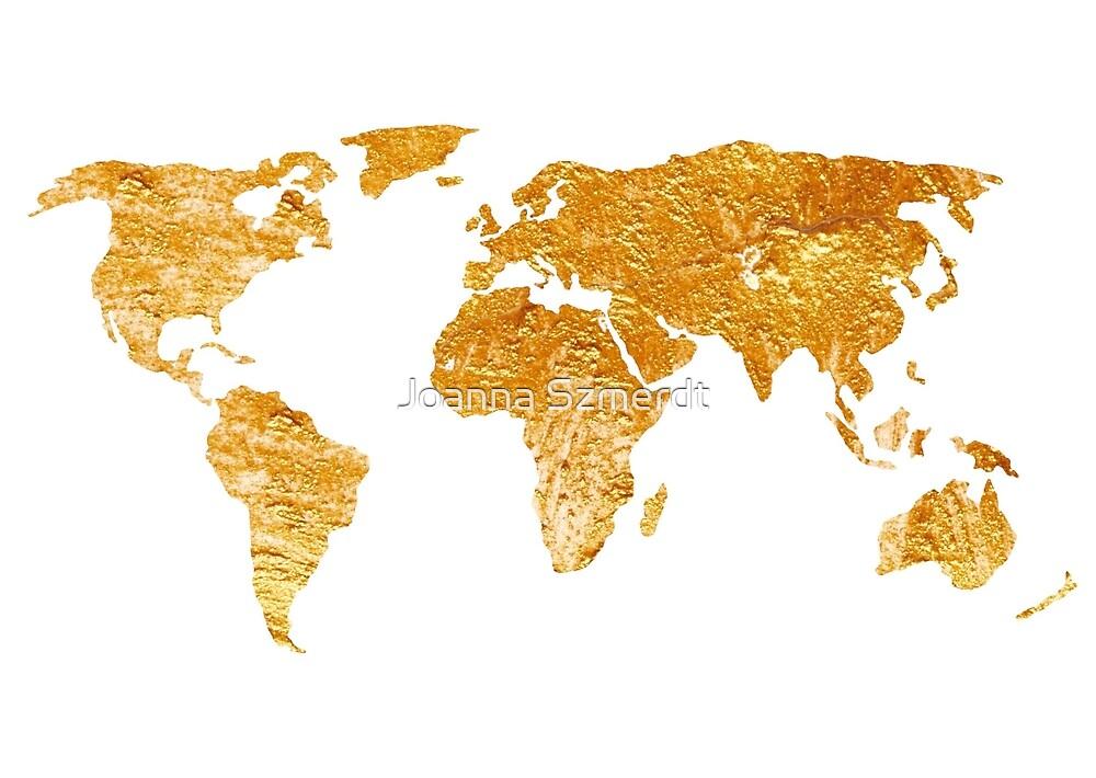 World map silhouette for sale by Joanna Szmerdt