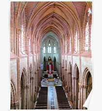 Interior Basilica del Voto Nacional, Quito, Ecuador Poster
