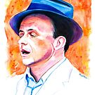 Sinatra-That's Life Watercolor by Beau Singer