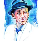 Sinatra-At Heart- Watercolor by Beau Singer