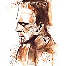 Frankenstein-Watercolor by Beau Singer