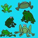 «Dibujos animados de ranas divertidas» de jaggerstudios