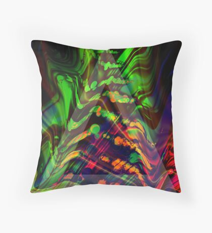 Abstract Christmas Tree Throw Pillow