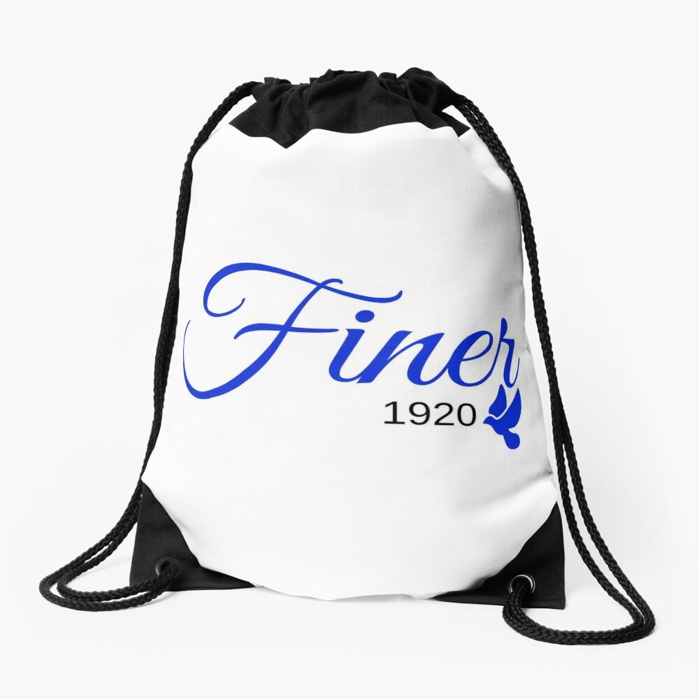 Finer 1920 Drawstring Bag Front
