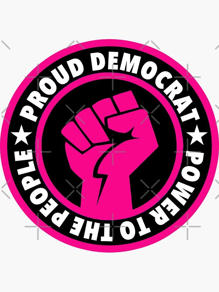 Stolzer Demokrat - Macht für das Volk (pink) von Thelittlelord
