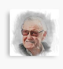 Stan Lee Aquarelle Design Metalldruck