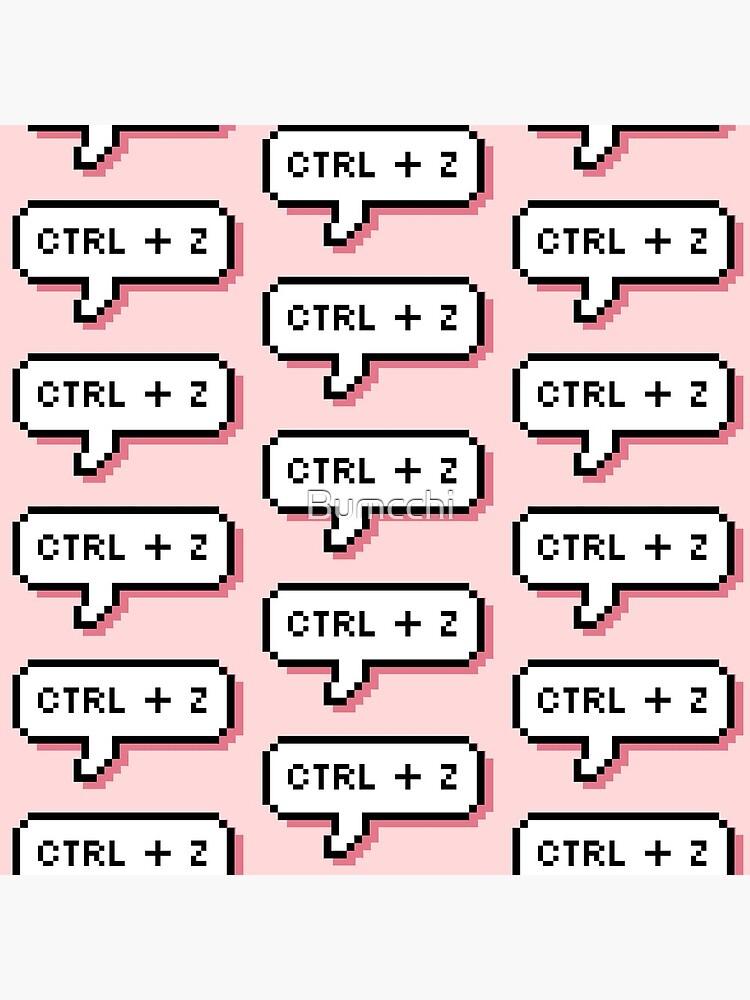 CTRL + Z - Pixel Speech Bubble - (Pink) by Bumcchi