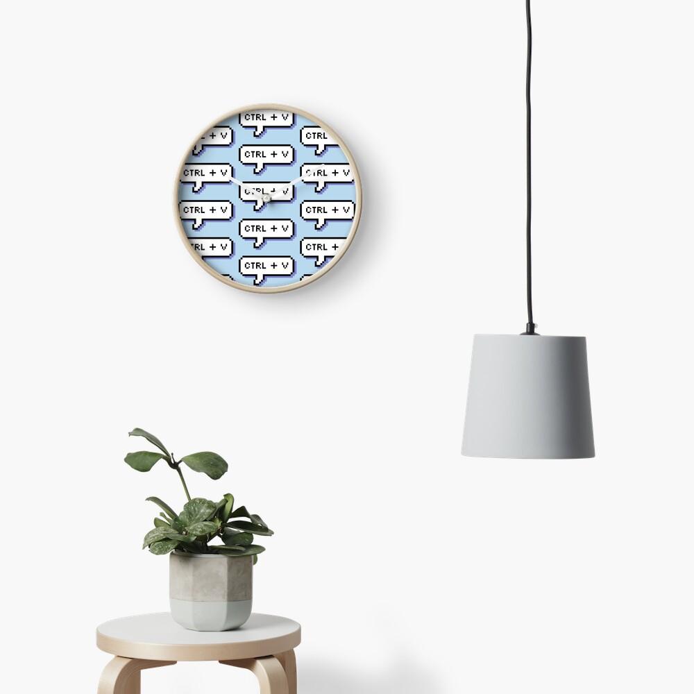 CTRL + V - Pixel Speech Bubble - (Blue) Clock