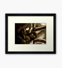 Coffee cup and beans Framed Print