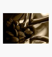 Coffee cup and beans Photographic Print