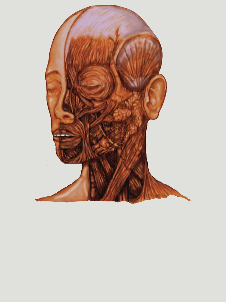 Anatomical Head And Neck Dissection Unisex T Shirt By Bloodandbone