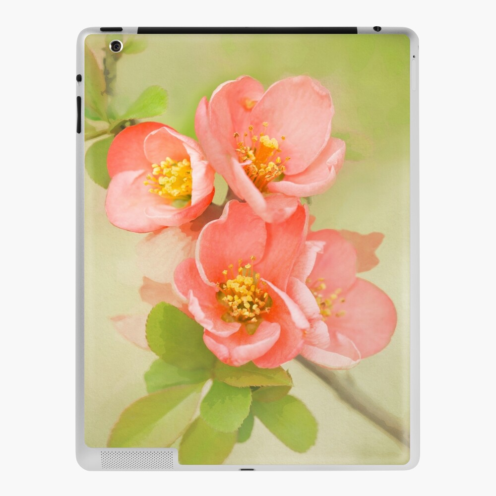 Coral & Green Watercolor Floral iPad Case & Skin