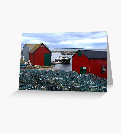 Tiny Harbour at Blue Rocks Greeting Card