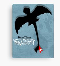 How to Train your Dragon Poster Canvas Print