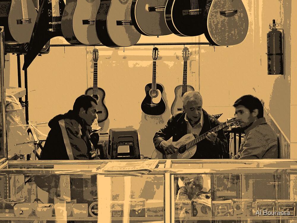 Music Shop, Quito, Ecuador by Al Bourassa