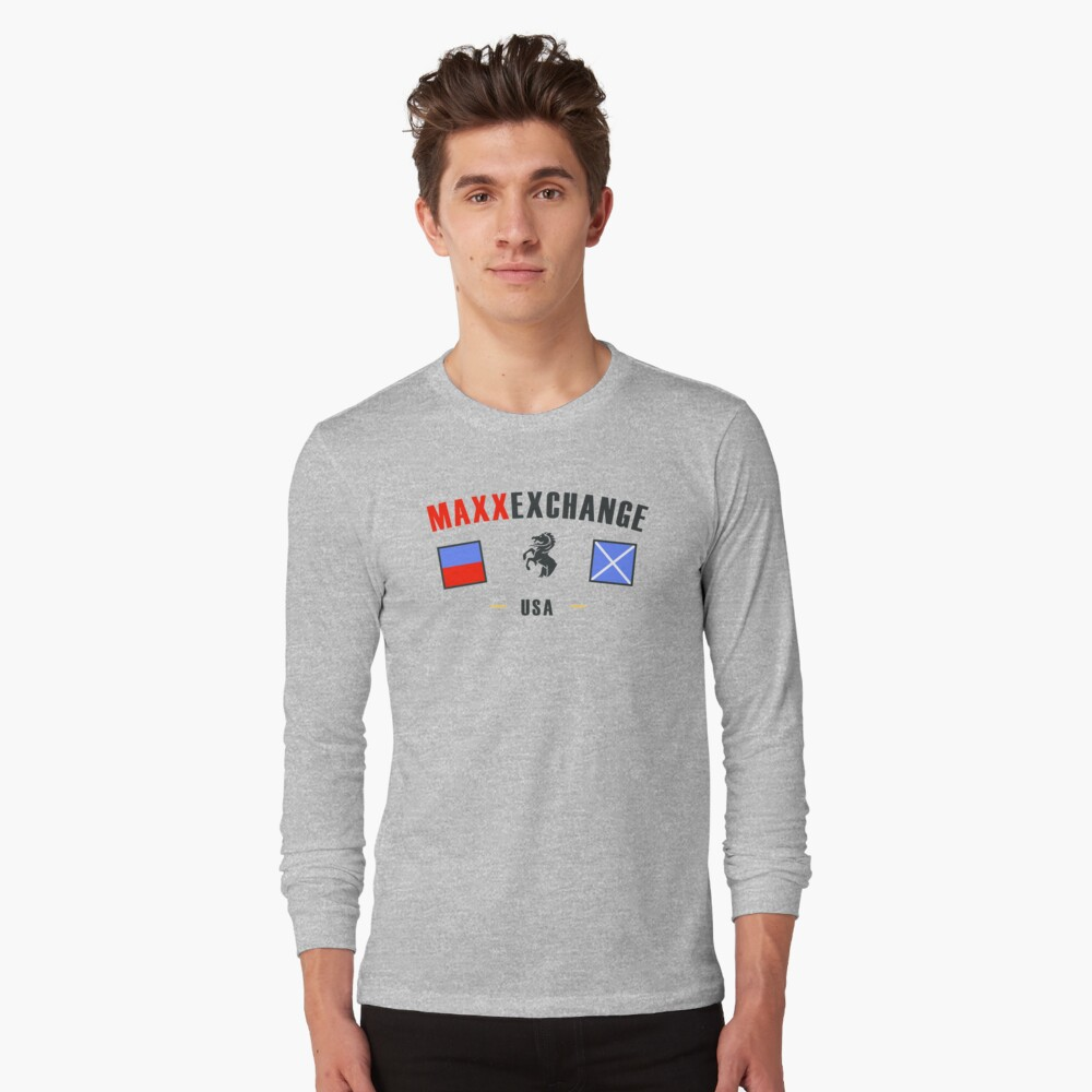 Nautical Flags, Maxx Exchange, USA Long Sleeve T-Shirt Front