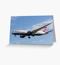 British Airways and Birds Greeting Card