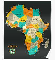 Afrika Karte Poster