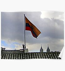 Quito, Ecuador Flag Lowering Poster