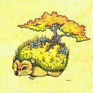 Hedgehog Garden by LonelyTreeArt