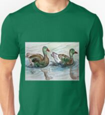 The painting..Mallards maybe? Unisex T-Shirt