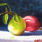 Two Pears by Estelle O'Brien
